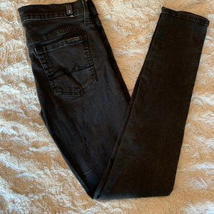 7 for Mankind grey skinny jeans